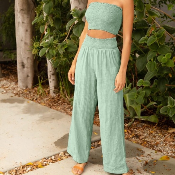 Sage green two piece
